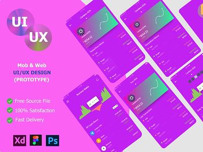 UI/UX design For wallet app graphic design ui