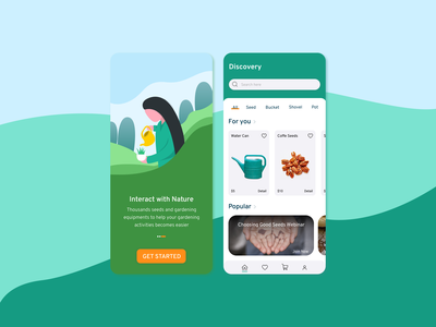 Nature Marketplace App mobile app design mobile design mobile app mobile ui mobile uiuxdesign uiux uidesign illustration 36 days of type ux ui web vector minimal app flat design