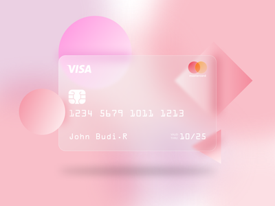 Credit Card Glassmorphism graphic design ux flat ui animation app web typography glassmorphism branding minimal design