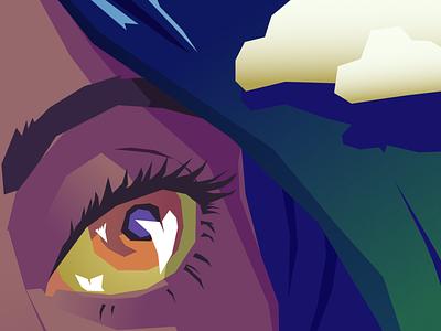 #Skyredraw paper plane eye colour design vector art vector simple illustration flat