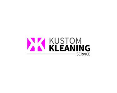 Kustom Kleaning Logo icon type illustrator minimal typography vector logo illustration design branding