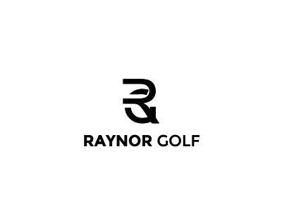 Raynor Golf Logo flat art illustrator minimal typography vector logo illustration design branding