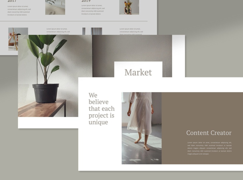 Each project is unique typography welcomekit trending template presentation powerpoint moodboard keynote googleslides design brandingkit branding