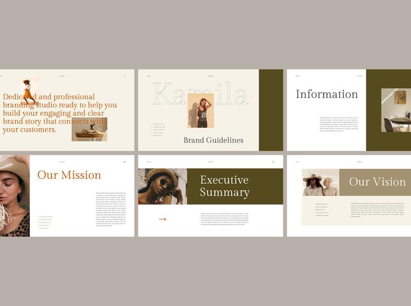 Welcome Kit Concept trending template presentation powerpoint moodboard keynote googleslides design brandingkit branding