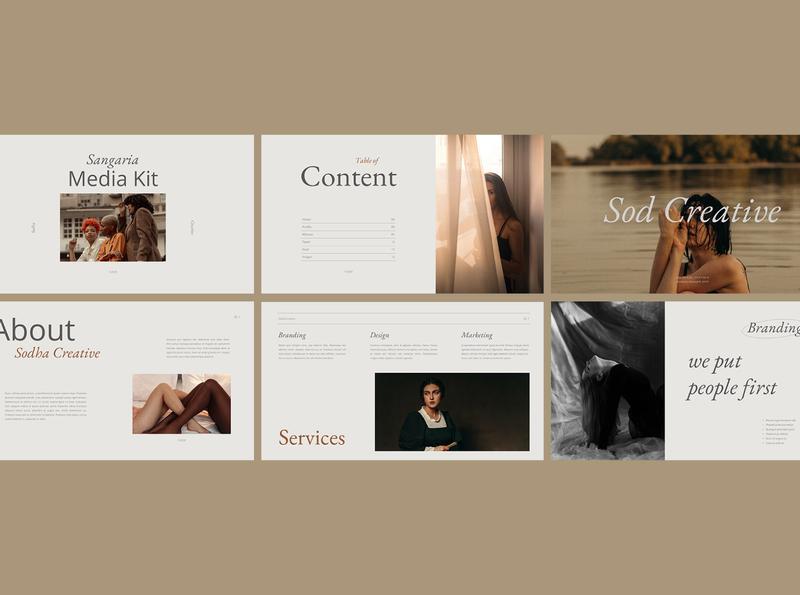 Sangaria presentation template typography welcomekit trending template presentation powerpoint keynote googleslides design brandingkit branding moodboard