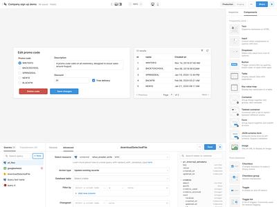Retool editor visual refresh logo vector dashboard developer tool components ui library ui editor editor ui