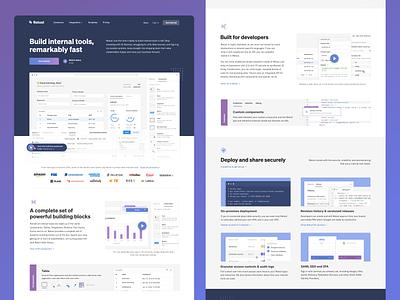 retool.com design exploration marketing redesign website