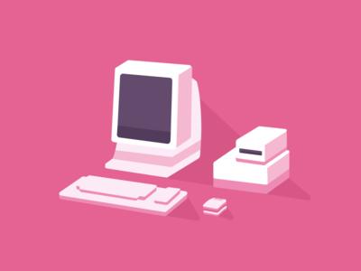 Desktop illustration icon illustration desktop computer