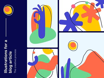 Abstract Shapes 2D Illustration illustration art illustrator figma design figma shape elements shape shapes abstract illustration abstract art abstract design abstraction abstract 2d illustration 2d art vector illustration vector art vector ui illustration ui design illustration