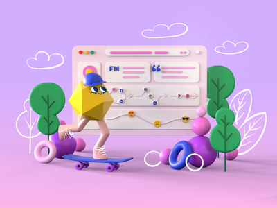 3D Character 3D UI interface CJM abstract cjm 3d concept shapes 3d monster 3d character design 3d characters 3d character 3d modeling webdesign illustration art illustrator ui design 3d artist ui illustration cinema4d 3d art 3d 3d illustration