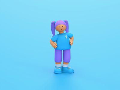 3D Character Design Concept branding design 3d 3d illustration cinema4d illustration