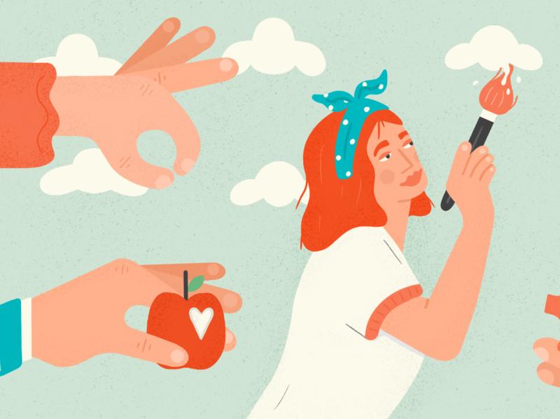 Editorial illustration - art crowd funder