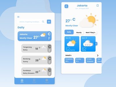 Weather App weather icon mobileappdesign mobile design app weather forecast clean ui weatherapp