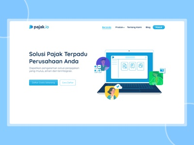 Pajak.io Website Redesign - Homepage design uiux clean ui uiuxdesign herosection homepage ui webdesign homepage website concept landingpage website uxui ux