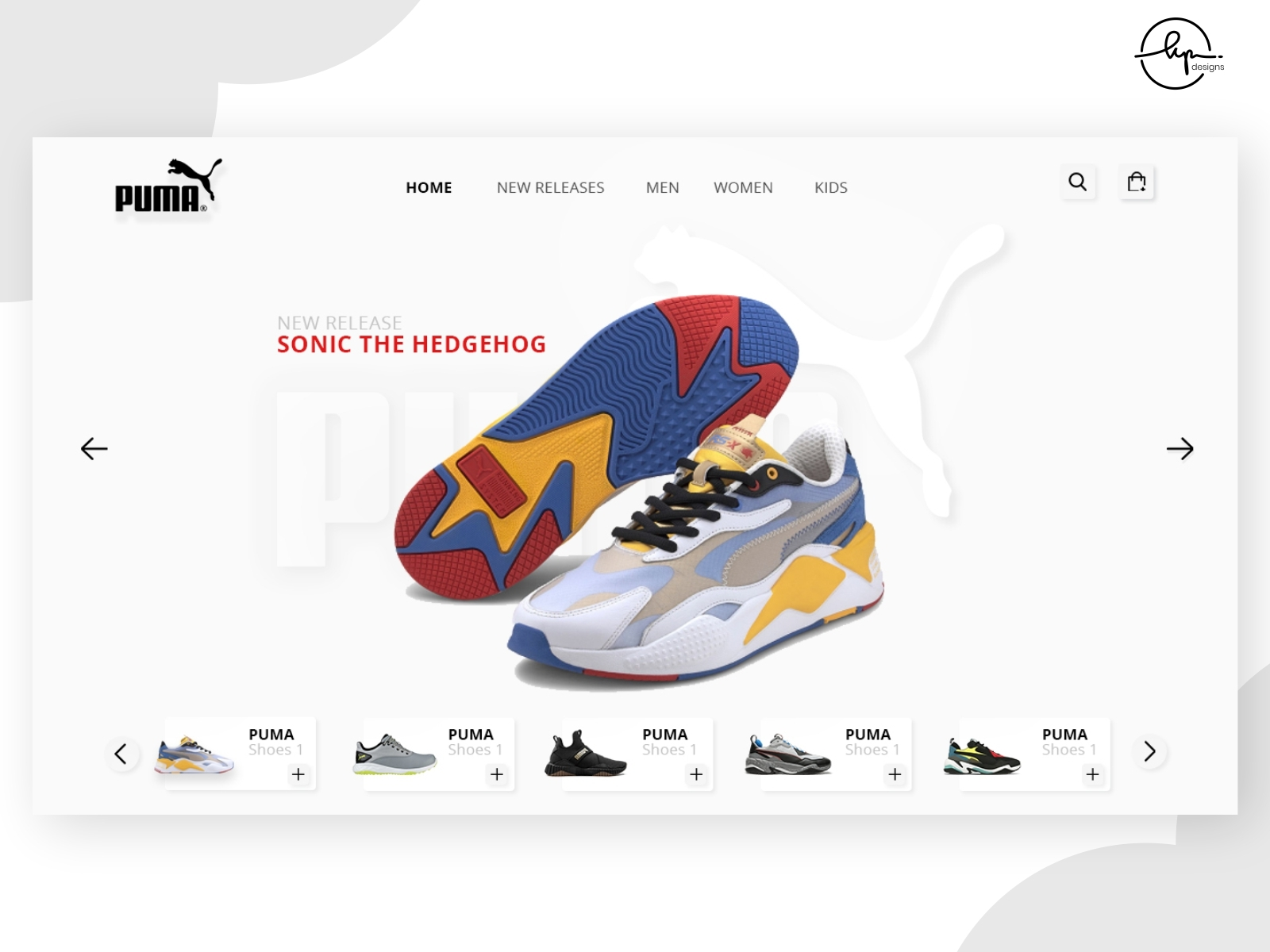 Puma Shoes online Store-neumorphism by