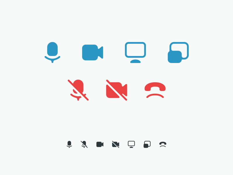 Video conferencing icons