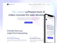 BeyondCode website builder marketing homepage website concept website design icon design icons interface user experience user interface design ux ui