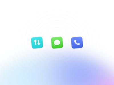 🔃 ‧ ‧ 💬 ‧ ‧ 📞 user interface design ui design design icons icon design