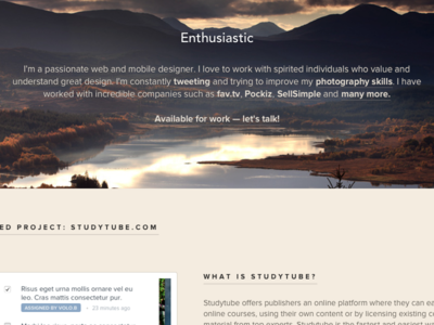 Enthusiastic.co — Live!