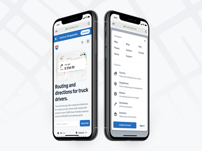 🚛 TruckMap - Mobile icon design icons interface user experience user interface mobile designer mobile website mobile web mobile design ui design user interface design ux ui truckmap design