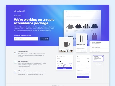 🛍 Tailwind UI - Ecommerce ecommerce tailwindecommerce tailwindcss tailwindui tailwind illustration icons interface user experience user interface ux design ui