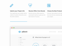Adtent Landing Page