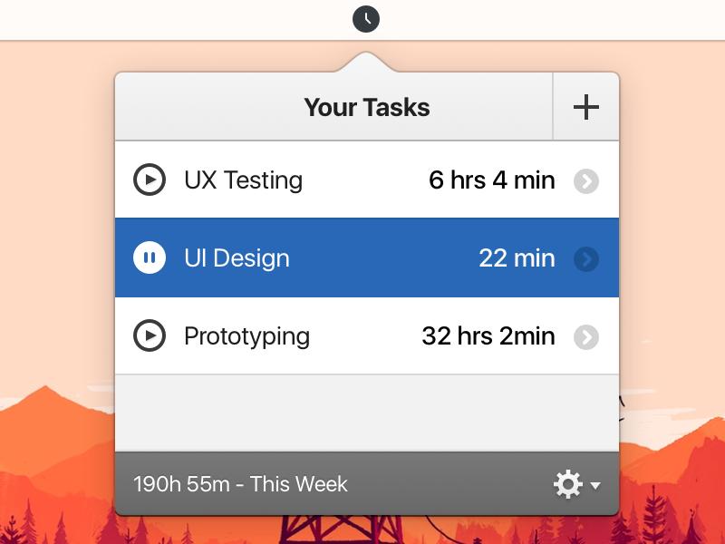 Tictoc Redesign apple sf ui retina user experience user interface mac application mac app ux ui