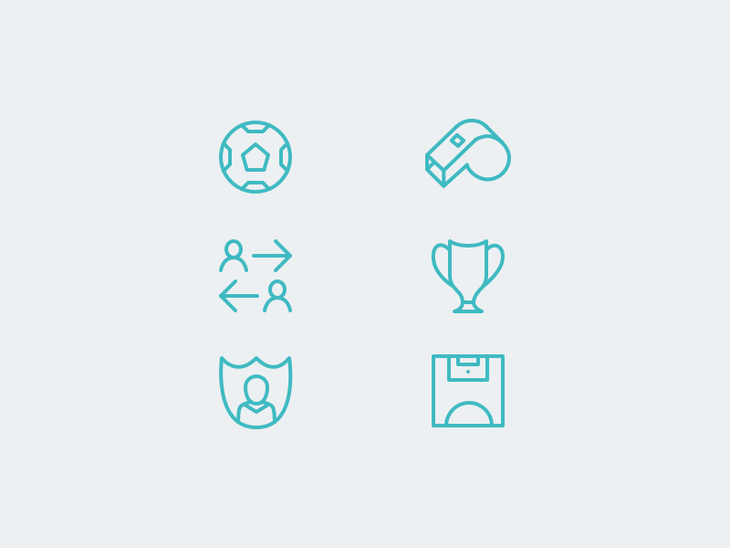 Football Icons cup pitch whistle football icons retina icons 2x 1x retina icon design icons football
