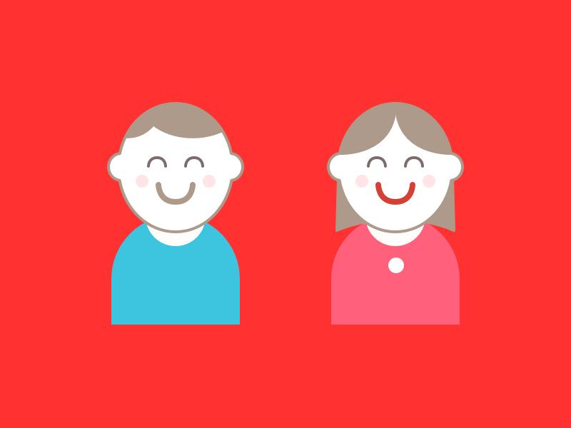 Jimmy & Jean 2x 1x retina illustrations mascots icons design