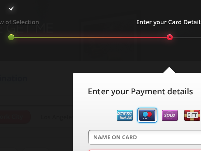 Enter Card Details wmgm red green progress bar stage ui ux payment cards visa