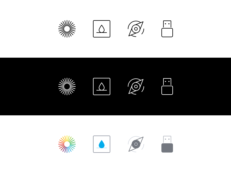B/W/C color icons icons icon design user experience user interface ux ui design
