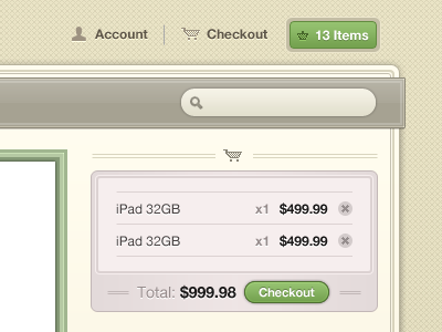 Checkout Interface checkout shopping cart cart icon green washed out interface ui ecommerce