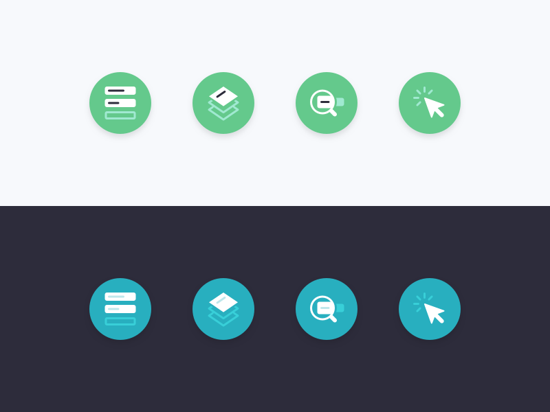 Two different treatments icons icon design ui design