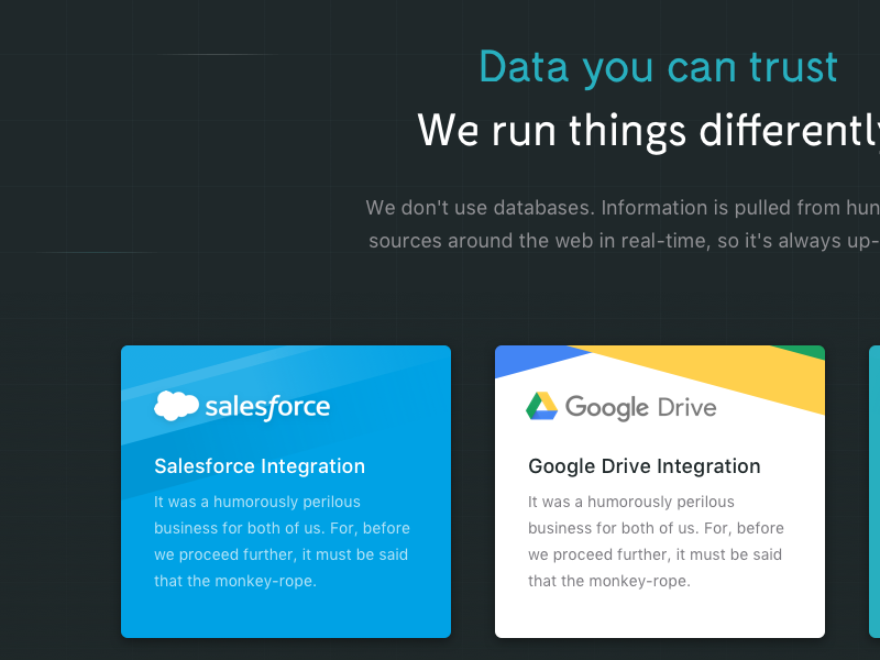 features  data you can trust...