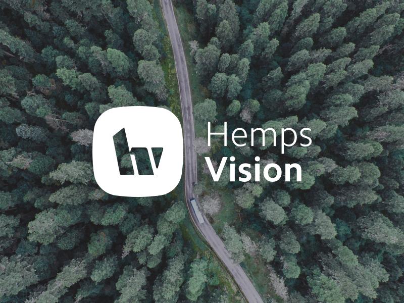 Hemps Vision hv hv monogram monogram logo cbd cbd oil hemp brand mark mark branding logo design design