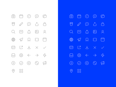 Second Revision for Icons icon set icons icon design user interface ux ui design
