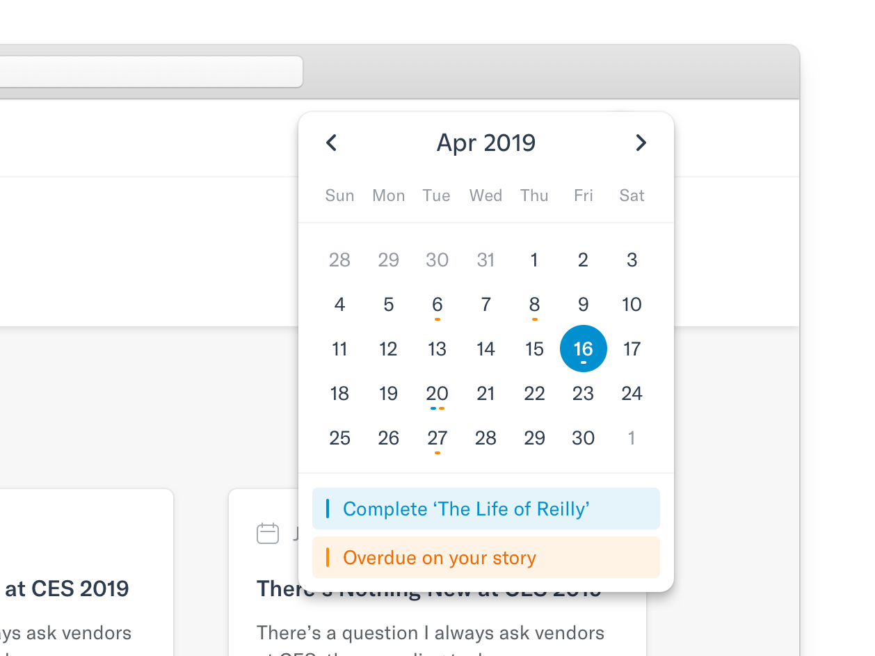 Mini-cal interface calendar ui calendar user experience user interface ux ui design