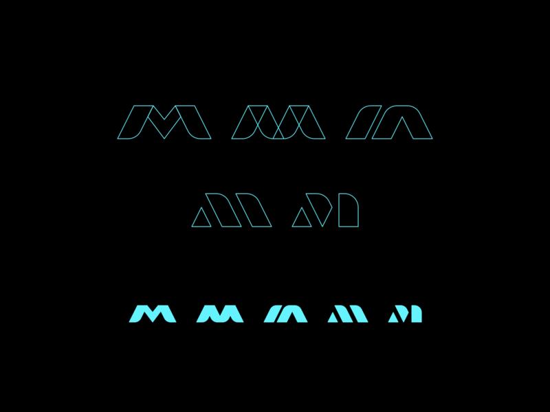M m m mark branding logo design