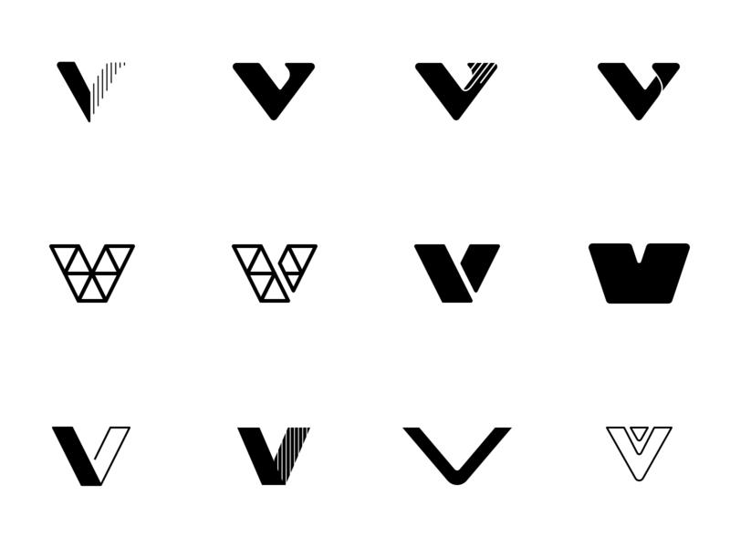 V's v logo v design v mark v brand mark logo design branding design design