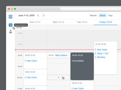 Start Booking - Calendar View