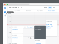 Start Booking - Calendar View