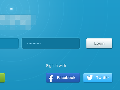 ⚡ blue design ui ux fields input button login