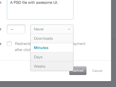 Minutes ui design ux user interface user experience button gray white whitespace