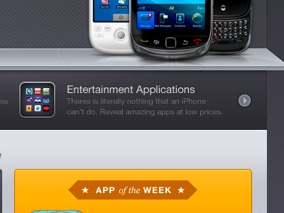 Entertainment Applications app store iphone blackberry palm pre android orange grey blue apps