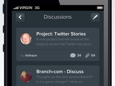 Discussions iOS