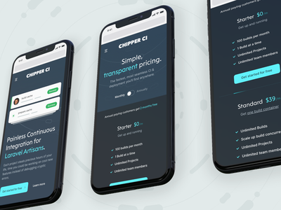 ChipperCI laravel git deploy chipperci icon design icons interface user experience user interface ux ui design