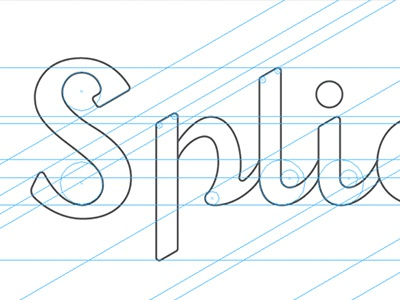 Splicity typography identity