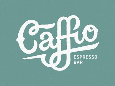 Caffio vespa logo identity lettering espresso coffee