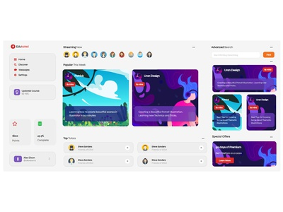 EduKated illustration design ux ui