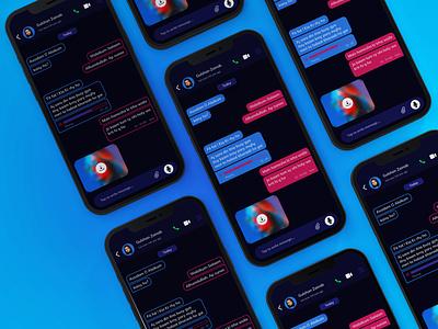 Chat Concept Design brand design trendy darktheme dark ui popular shot trend chat app messenger app design app ui design uidesign ui